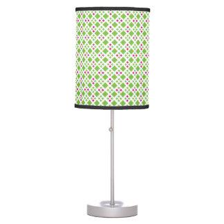 Sombra de lámpara verde y rosada del modelo