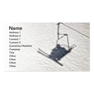 Sombra de los esquiadores tarjetas de negocios