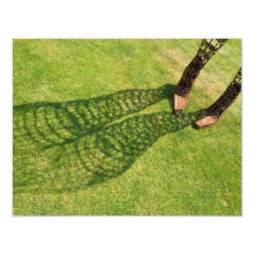 """Sombra de piernas y de pies invitación 4.25"""" x 5.5"""""""