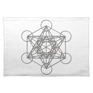 Sombra de plata de Metatron Manteles Individuales