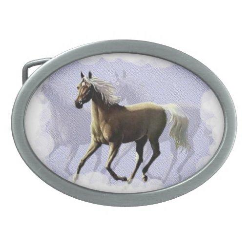 Sombra del caballo hebilla de cinturon
