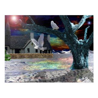 Sombra del claro de luna. tarjetas postales