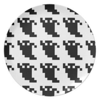 Sombra del fantasma del pixel de 8 pedazos platos para fiestas