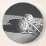 Sombra del hilado y de la mariposa posavasos personalizados