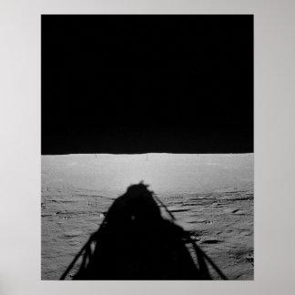 Sombra del módulo lunar de Apolo 12 en la luna Impresiones