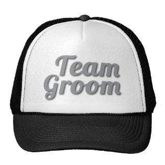 Sombra del novio del equipo gorras