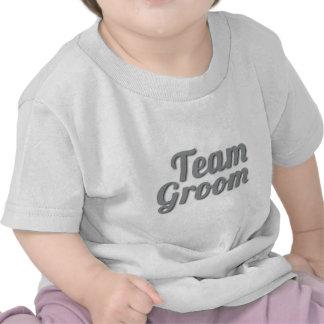 Sombra del novio del equipo camiseta
