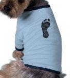 Sombra del pie camiseta de perrito