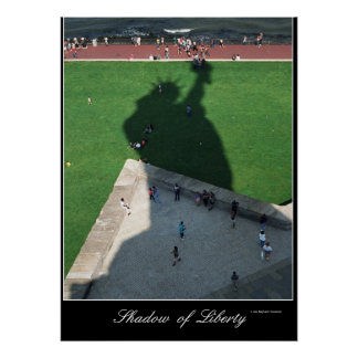 Sombra del poster de la libertad póster