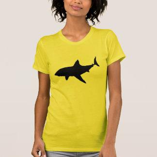 Sombra del tiburón camisetas