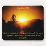 Sombra del Todopoderoso - 91:1 de los salmos Alfombrillas De Ratón