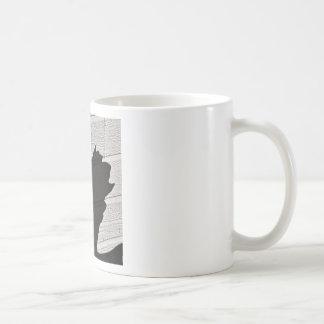 Sombra del unicornio tazas de café