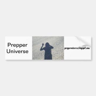 Sombra del universo de Prepper Pegatina Para Auto