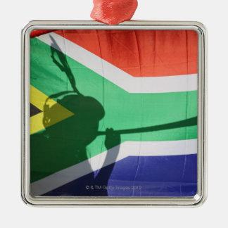 Sombra del vuvuzela que sopla del partidario del f ornamento para arbol de navidad