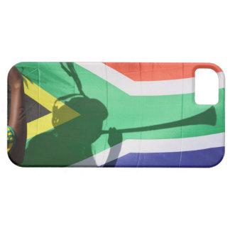 Sombra del vuvuzela que sopla del partidario del f iPhone 5 carcasas