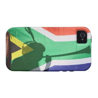 Sombra del vuvuzela que sopla del partidario del f Case-Mate iPhone 4 funda