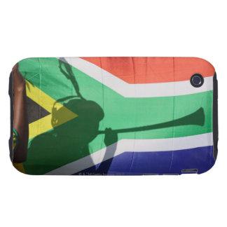 Sombra del vuvuzela que sopla del partidario del f tough iPhone 3 cobertura