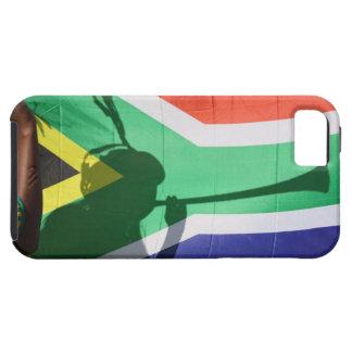 Sombra del vuvuzela que sopla del partidario del funda para iPhone 5 tough