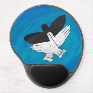 Sombra Eagle en azul Alfombrilla De Raton Con Gel