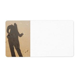 Sombra en duna etiqueta de envío