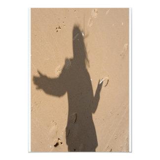 """Sombra en duna invitación 5"""" x 7"""""""