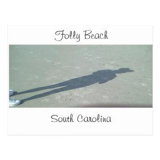 Sombra en la playa de la locura, SC, Carolina del  Tarjeta Postal
