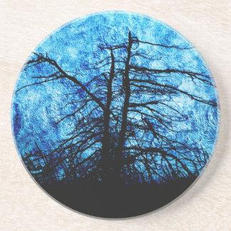 Sombra en remolinos azules posavasos para bebidas
