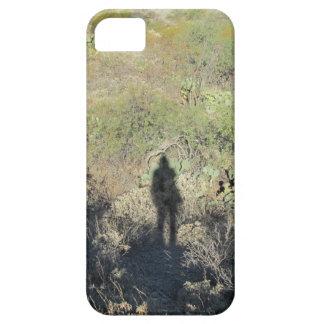 Sombra humana en el caso del iPhone 5 del desierto Funda Para iPhone SE/5/5s