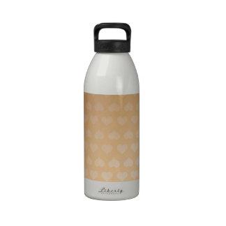 Sombra ligera de los corazones DE ORO por los rega Botella De Agua Reutilizable