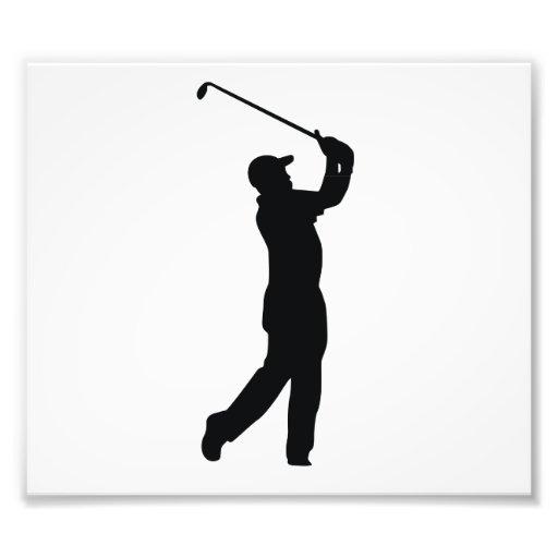 Sombra negra de la silueta del golf fotografía