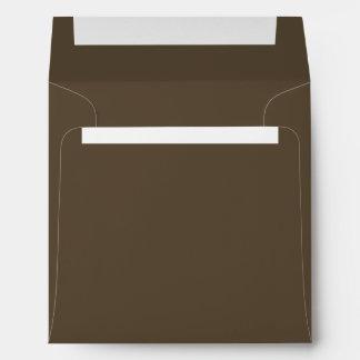 Sombra rica del chocolate de Brown, cacao oscuro Sobres