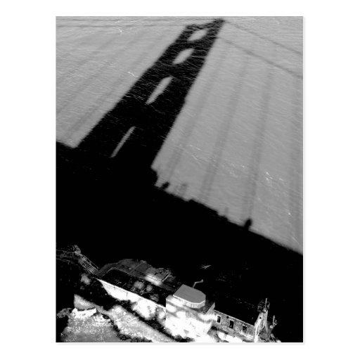 Sombra sobre punto de la cal postal