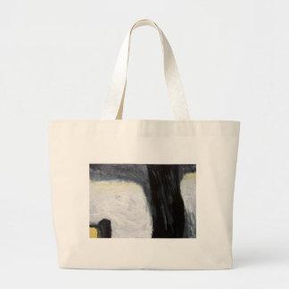 Sombra y silueta (expresionismo) del árbol bolsas de mano