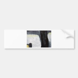 Sombra y silueta (expresionismo) del árbol pegatina para auto