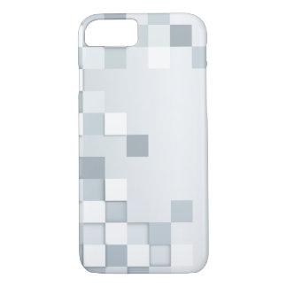 Sombras abstractas de cuadrados grises funda iPhone 7