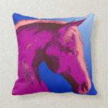 Sombras abstractas de la almohada rosada del cabal
