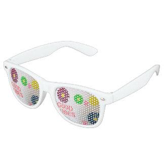Sombras adultas del fiesta con tema de los años 70 lentes de fiesta