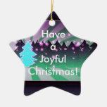 Sombras alegres de los árboles de navidad del adorno de cerámica en forma de estrella
