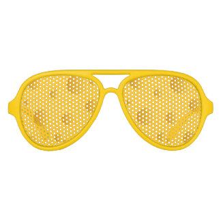 Sombras amarillas del fiesta del diseño del queso lentes de fiesta