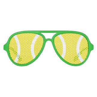 Sombras amarillas divertidas del fiesta de la gafas de sol