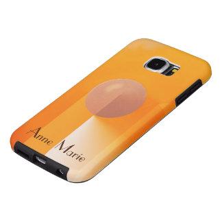 Sombras anaranjadas con el texto adaptable fundas samsung galaxy s6