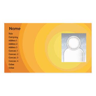 Sombras anaranjadas del círculo - negocio plantilla de tarjeta de visita