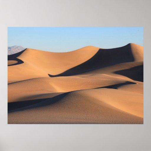 Sombras asombrosas del desierto impresiones