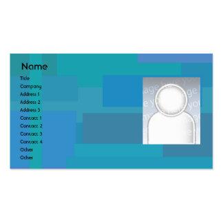 Sombras azules - negocio tarjeta de visita