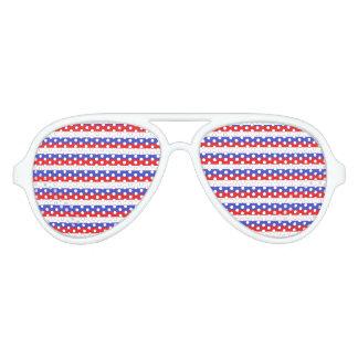 """Sombras """"blancas y azules"""" rojas del fiesta lentes de fiesta"""