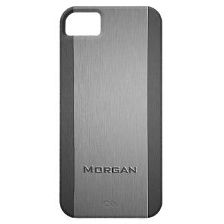 Sombras cepilladas del metal dos con el texto de e iPhone 5 Case-Mate carcasa