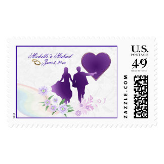 Sombras de encargo del boda del recuerdo de la timbres postales