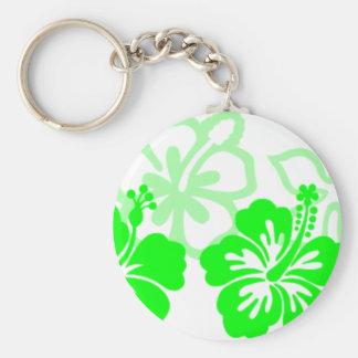 Sombras de hibiscos verdes claros