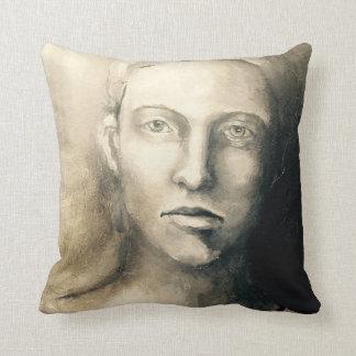 Sombras de la almohada del retrato #1 del gris