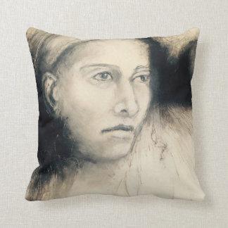 Sombras de la almohada del retrato #2 del gris